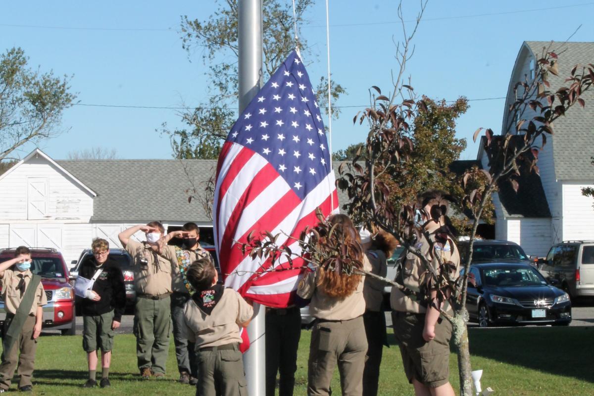 Boy Scouts Raising the Flag